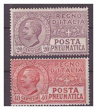 REGNO 1925  -  POSTA PNEUMATICA  -   SERIE  NUOVA  **