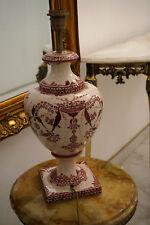 Antike Porzellan Messing Tischlampe Leselampe Lampe Handbemalt Jugendstil
