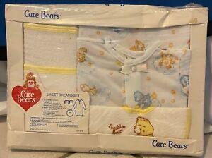 Rare Vintage SEALED 1984 CARE BEARS Funshine Bear Sweet Dreams Bedtime BABY SET