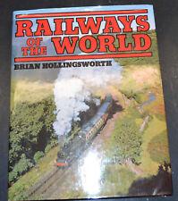 RAILWAYS OF THE WORLD Railroad History hc/dj 100's of Photographs B1
