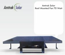 Amtrak Solar Most Powerful Roof Top Solar Attic Fan, 70 Watt Solar Panel