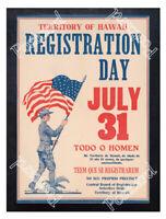 Historic WWI Recrutiment Poster Territory of Hawaii Postcard