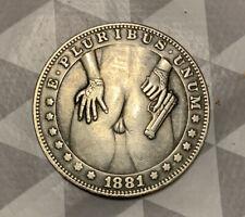 Jeton érotique erotic coin sexy girl pin up nude nue one dollar fake curiosité