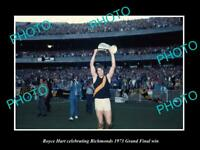 OLD 8x6 HISTORIC PHOTO OF ROYCE HART 1973 RICHMOND FC GRAND FINAL WIN 2