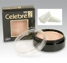 Celebre HD Pro Mehron Quality Foundation Cream w/Latex Foam Applicator Med Dark2