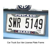 New FANMATS NFL Chicago Bears Car Truck Chrome Metal License Plate Frame