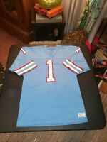 1980s Authentic Sand-Knit Oilers Warren Moon jersey like NOS EUC Heavy Knit USA