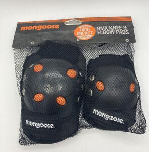 Mongoose BMX Bike Skateboard Gel Knee and Elbow Pads