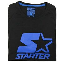 STARTER Men's T-Shirt Size XL Black Blue, Authentic, NBA, NFL, NHL