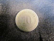 Deutsches Reich 1892 10 Pfennig D München Sammlermünze coin Münze