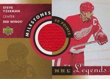 Steve Yzerman 2001-02 Upper Deck NHL Legends MILESTONES JERSEY Detroit Red Wings