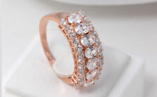 Gold Plated Cubic Zirconia Band Fashion Rings