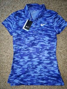 Nike Women's Dri Fit Golf Polo Shirt Blue Size XS  NWT