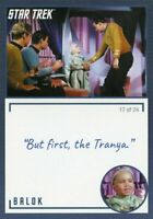 Star Trek TOS Archives & Inscriptions card #16 Balok Variation 17 out of 24