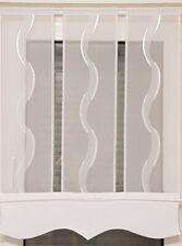 Scheibengardine 1tlg  grau weiß 100cm breit