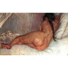 Nude Woman Reclining Vincent Van Gogh HD ART Canvas Print Oil Painting decor