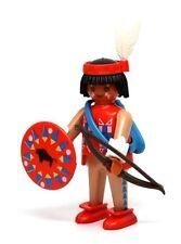 Playmobil Figure Western Indian Warrior Hunter Bow Arrows Moccasins Shield 3397