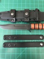 Leather Scout Carry Straps Fits Ka-Bar USMC Fighting Knife (no Sheath or Knife)