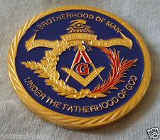 Masonic Coin Mason Regalia  Eye Gold Writing Mysterious Secret Group Strange UK