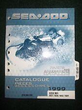 1999 Bombardier Sea Doo Parts Accessories Catalog Manual GSX RFI 5637 5638 5652+