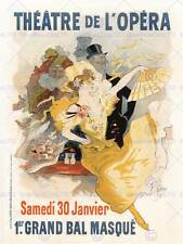 THEATRE CULTURAL OPERA MASKED BALL PARIS FRANCE VINTAGE ADVERT POSTER ART 2138PY