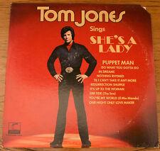 TOM JONES  Sings She's A Lady  Parrot  (XPAS 71046 Stereo  LP VG
