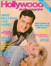 Rock Hudson Doris Day cover Hollywood Studio Magazine 1980 myrna loy