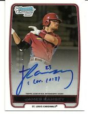 2012 BOWMAN CHROME BASEBALL - JAMES RAMSEY ROOKIE AUTO - CARDINALS - BCA-JR