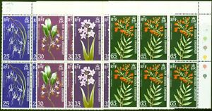New Hebrides 1973 Orchids Set of 4 SG174-177 in Very Fine MNH Blocks of 6