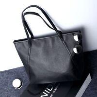 UK Womens Ladies Designer Leather Style Tote Bag Shoulder Handbag Shopper Large