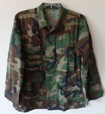 Coat Woodland Camo Combat Pattern Medium Regular Nylon Cotton Jacket EUC