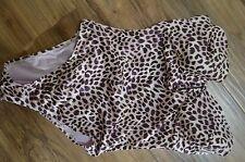Victoria's Secret swim suit swimsuit one piece plum nude leopard $94 34D