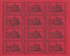 1971 STRIKE MAIL BANNOCKBURN 5/- RED IMP COMMEMORATIVES FULL SHEET OF 12 MNH