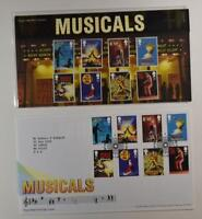 2011 ROYAL MAIL PRESENTATION FOLDER BRITISH THEATER MUSICALS & FDC LOT 400