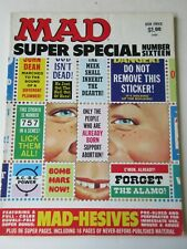 Mad Magazine Super Special #16 with most stickers