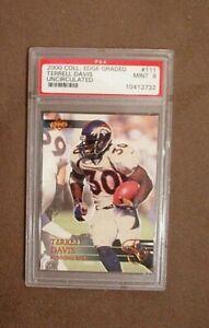 2000 Collector's Edge Graded Terrell Davis Uncirculated Card #111 PSA 9 Mint
