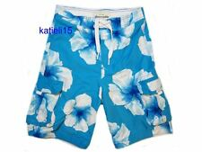 Abercrombie & Fitch Kid's Rocky Falls Swim Shorts Board Surf Turquoise XL