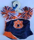 Build A Bear Workshop Auburn University Cheerleading Uniform 4 Piece Set, NEW