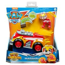Paw Patrol Mighty Pups Super Paws Marshall's Deluxe Vehicle w Lights & Sound NEW