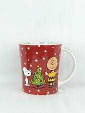 Christmas Peanuts Charlie Brown Snoopy Good Will To All Gibson 15 oz Coffee Mug