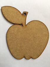 laser cut apples teacher gifts PACK OF 5 craft blank embellishments 10cmx9cmx3mm