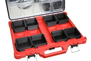 Milwaukee Packout Organizer Single Square Bin With Bit Holder Mount Low-Profile