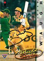 ✺Signed✺ 1995 1996 AUSTRALIA Cricket Card STEVE WAUGH