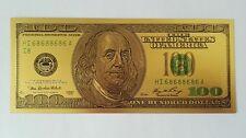 Hot 10pcs Old Version $100 dollar Gold Foil Golden Paper Money Banknotes Crafts