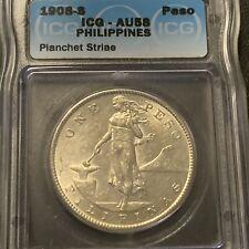 1908S US Philippine Peso ICG AU 58