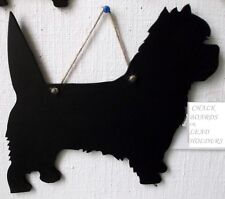 CAIRN TERRIER DOG SHAPE chalkboard birthday Christmas present gift