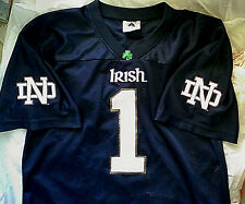 """Notre Dame Fighting Irish """"1"""" Football Jersey Youth XL [Adult S]"""