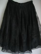 Jupe Dentelle Noire Taille 3 Doublée  Fabriquée en France    Vintage Années 80