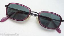 Sonnenbrille unisex schwarz-aubergine Kunststoffgläser 75% grau neu size S