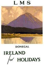 Art Print Donegal Ireland LMS Railway Travel Poster